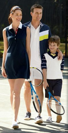 Family tennis outing