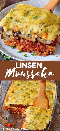 Veggie Recipes, Whole Food Recipes, Vegetarian Recipes, Cooking Recipes, Brunch Recipes, Healthy Dinner Recipes, Vegan Moussaka, Musaka, Veggie Dinner