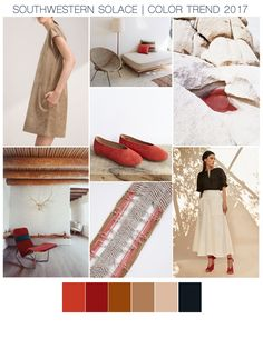 visual_pulp Color Trend | With neutrals being everywhere on the Spring 2017 #catwalks, I was drawn to the #southwestern vibe these calming shades had when combined with a soft spectrum of reds. Drawing on #newmexico inspiration from Georgia O'Keeffe to desert landscapes & sunset hues, designers are creating an updated and minimal #Southwest look that is both modern and timeless.