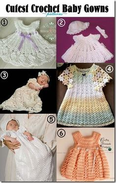 Cutest Crochet Baby Gowns -patterns-