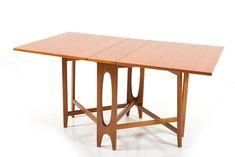 Norwegian Drop-Leaf Teak Dining Table by Bendt Winge For Sale Teak Dining Table, Dining Table Design, Vintage Table, Drafting Desk, Scandinavian Design, Cool Furniture, Retro, Antiques, Drop
