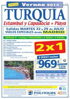 TURQUÍA: Estambul y Capadocia + playa, sal. 29/07 dsd Mad (8d/7n) p.f. 2 pax dsd 1.419€ (2x1) ultimo minuto - http://zocotours.com/turquia-estambul-y-capadocia-playa-sal-2907-dsd-mad-8d7n-p-f-2-pax-dsd-1-419e-2x1-ultimo-minuto/