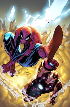 ✭ Spider-Man and Iron Man by Humberto Ramos