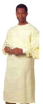 Reusable Precaution Gown, 1-Ply Fabric - Large by Fashion Seal Uniforms