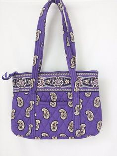 Vera Bradley Purple Paisley Simply Violet Tote Bag Purse #VeraBradley #TotesShoppers #simplyviolet