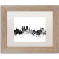 Trademark Fine Art 'York England Skyline B' Canvas Art by Michael Tompsett White Matte, Birch Frame, Size: 16 x 20