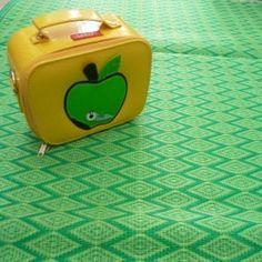 Tapis plastique tréssé vert