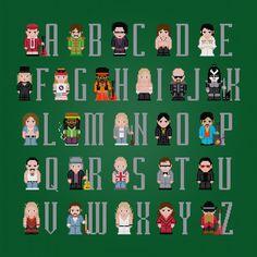Rock Music Alphabet   A=AC/DC, B=The Beatles, C=The Cure, D=The Doors, E=Elvis, F=Fleetwood Mac, G=Guns 'N Roses, H=Jimi Hendrix, I=Iggi Pop, J=Judas Priest, K=Kiss, L=Led Zeppelin, M=Bob Marley, N=Nirvana, O=Ozzy Osbourne, P=Prince, Q=Queen, R=The Rolling Stones, S=The Sex Pistols, T=Talking Heads, U=U2, V=Van Halen, W=The Who, X=XYZ, Y=Yes, Z=ZZ Top