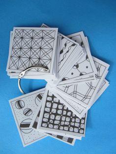 swatch of zentangle patterns by Nancy Domnauer, CZT of Zen Drawing Club; www.linedotcalm.com