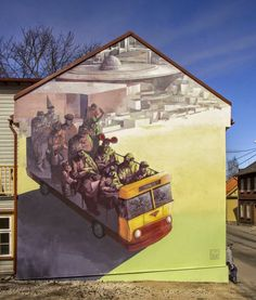 Polish muralists Sepe and Chazme are currently in Estonia where they were invited to paint for the Stencibility Street Art Festival.
