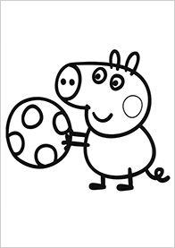 Peppa Pig With Her Family On The Beach Coloring Book Pages VIdeos