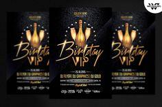 BIRTHDAY VIP Flyer Template by WG-VISUALARTS on Creative Market