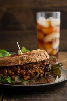 Spicy Vegan Lentil Sloppy Joes!! Yum! Would be absolutely delicious and are so easy to make! I would have the lentils on their own- fantastic flavours! And skip the oil :) #vegan #lentils #spicy