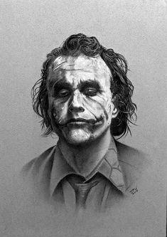 Heath Ledger as Joker charcoal drawing. Joker Pencil Drawing, Joker Drawings, Batman Drawing, Pencil Art Drawings, Art Drawings Sketches, Charcoal Sketch, Charcoal Art, Charcoal Drawings, White Charcoal