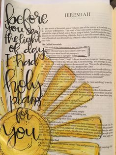 Jeremiah 5 Before I formed you in the womb I knew you, before you were born I set you apart; I appointed you as a prophet to the nations. Bible journaling by Julie Williams Bible Journaling For Beginners, Bible Study Journal, Art Journaling, Scripture Journal, Bible Drawing, Bible Doodling, Scripture Art, Bible Art, Bible Prayers