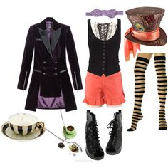"""Mad Hatter Costume"" by corbexx on Polyvore freak night costume:)"