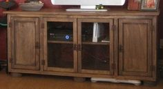 Rustic TV/Media Console Table | Do It Yourself Home Projects from Ana White