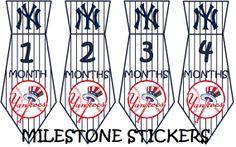 New York Yankees Unique Monthly Milestone by MilestoneStickers, $5.00