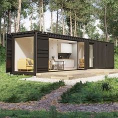 Design-builder Shipping Container Homes Shipping Container Design, Cargo Container Homes, Building A Container Home, Container Buildings, Container House Plans, Container House Design, Container Cabin, Shipping Containers, Shipping Container Conversions