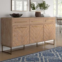 Store your extra dinnerware, flatware, and table linens in a buffet table or sideboard. Shop our great selection of stylish buffet tables and sideboards. Sideboard Decor, Buffet Console, Buffet Cabinet, Buffet Tables, Buffet Table Ideas Decor Dining Rooms, Modern Buffet Table, Retro Sideboard, Dining Room Sideboard, Modern Sideboard