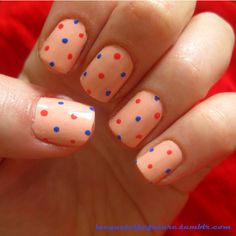 Springy spots (Essie A Crewed Interest, Miss Sporty Pop Fiction and Orange Crush) Orange Crush, Essie, My Nails, Manicure, Crushes, Sporty, Fiction, Nail Manicure, Nails