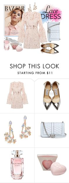 """""""Untitled #86"""" by ivana-j ❤ liked on Polyvore featuring Jimmy Choo, Erickson Beamon, Rebecca Minkoff, Elie Saab and lacedress"""
