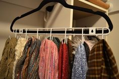 Tutorial: Scarf or Belt Closet Hanger