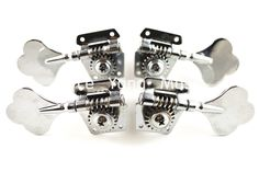 Niko Chrome Vintage Plum Flower Cap Open Bass Tuning Pegs Tuners Machines Heads 2L 2R Free Shipping Wholesales