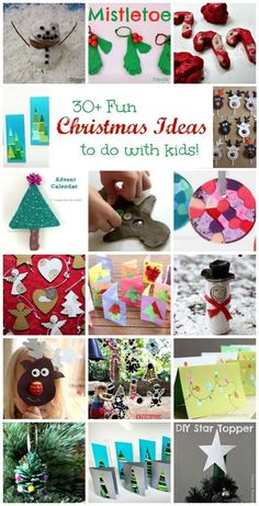 Over 30 fun Christmas activities to do with kids. So many fun ideas - cool crafts, DIY ornaments, homemade cards, Christmas-themed sensory play. 'Tis the season!