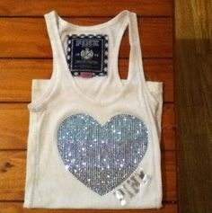 Victorias-Secret sequin heart Tank
