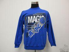 Vtg 90s Signal Orlando Magic Crewneck Sweatshirt sz L Large Basketball NBA Penny #Signal #OrlandoMagic #tcpkickz