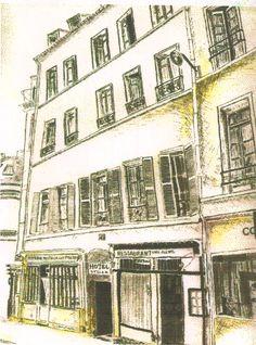 Hotel Stella, Latin Quarter, Paris. Carte Postale