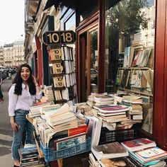 #waybackwednesday to being constantly excited about french bookstores on every rue 💃🏼 #bookbaristastravels #Regram via @bookbaristas