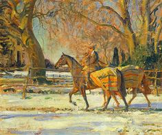 sir alfred munnings - The Painter's Groom