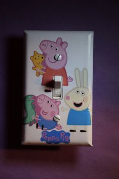 Peppa Pig Miss Rabbit Light Switch Cover boys girls kids baby room home decor