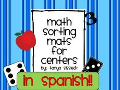 **SPANISH NUMBER WORDS**  This package contains sorting mats for numbers 1 through 10. In addition to the mats, it also includes sorting cards in color and in black and white. The cards have pictures of counting apples, ten frames, number digits, dice, and dominoes. The set can be used by students for independent work or as a center.