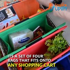 cooking tips - Reusable Grocery Trolley Bags 😍 These MAGIC, Reusable Grocery Trolly Bags (SET of FOUR BAGS) are your new 1 Shopping Companion! No more need for those environmentally unfriendly, plastic bags! You can feel good that you're helping to Save Cool Kitchen Gadgets, Home Gadgets, Cool Kitchens, Kitchen Hacks, Simple Life Hacks, Useful Life Hacks, Trolley Bags, Cool Inventions, Home Hacks