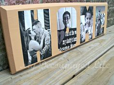 Make a Personalized 'Home' Sign with Your Family Photos (Craft Tutorial) on http://www.5minutesformom.com