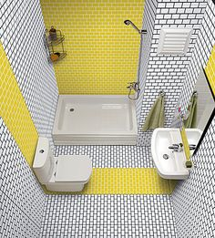 Tile Expert · Artwork tile by Ornamenta Small Shower Room, Small Bathroom Layout, Tiny House Bathroom, Bathroom Tile Designs, Modern Bathroom Design, Bathroom Interior Design, Cheap Bathroom Remodel, Bathroom Renovations, Living Style