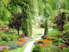 Large Garden, The concept of a Beautiful Gardens from around the world