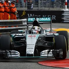 AMG Mercedes #F1 Pilot Lewis Hamilton finished fastest in second practice for the 2015 Monaco Grand Prix