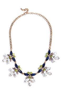Dream a Little Gleam Blue Rhinestone Statement Necklace at Lulus.com!