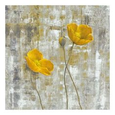 ''Yellow Floral I'' Canvas Wall Art by Carol Black