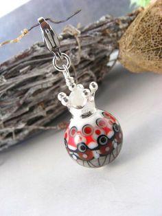 Angiebeads Lampwork -Glaskugel Anhänger GEOMETRIE von Angiebeads-handgefertigte Lampworkperlen u. Schmuckbänder auf DaWanda.com