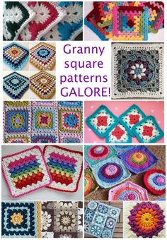 Granny square patterns galore                                                                                                                                                      More