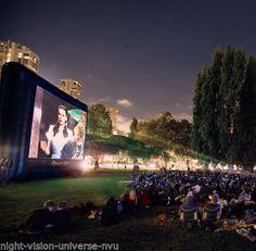 Open Air Cinema CineBox Elite 40'x22.5' Outdoor High Def Theater 16x9 CBE-40