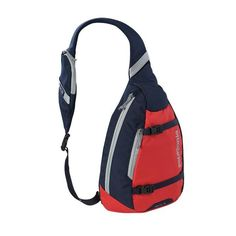 9b41fdd70e Equal parts courier bag, backpack and carry-all, the Patagonia Atom Sling  bag's teardrop shape makes it simple to access your things when you're on  the go.
