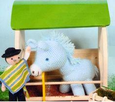 Pony Amigurumi - Patrón Gratis en Español aqui: http://awesomeneedles.blogspot.com.es/2014/01/patron-gratis-pony.html
