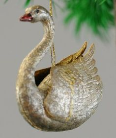 Swimming Silver Swan. Finding this ornament would truly make my season! I've been looking for something just like this!