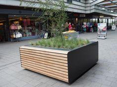 FalcoLinea boombakken en XXL banken voor centrum Stadshagen, Zwolle   Falco BV